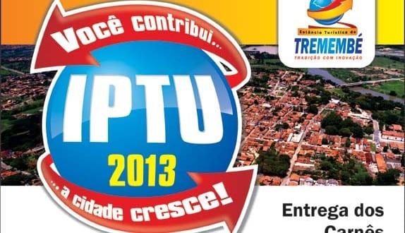 Comunicado: Entrega dos carnês de IPTU 2013