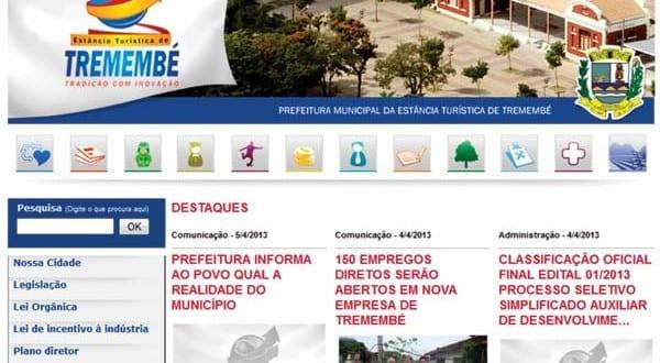 Site da prefeitura quase triplica número de acessos em apenas três meses