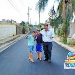 Depois de 80 anos, bairro do Retiro Feliz recebe asfalto, galerias e nova entrada