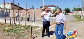 Vaqueli visita início das obras na Praça do Jardim Santana e Campo de Futebol do Turfa