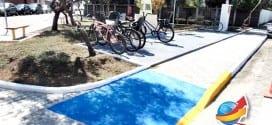 Prefeitura Municipal revitaliza Praça da República em frente ao Centro de Saúde