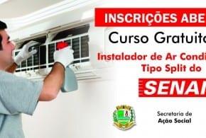 Prefeitura de Tremembé abre inscrições para Curso de Instalador de Ar Condicionado do SENAI