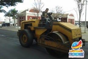 Prefeitura de Tremembé realiza revitalização asfáltica no Centro Histórico
