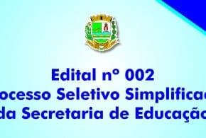Primeiro edital de convocação para Professor I e II, ADI, Inspetor de Aluno, Merendeiro e PcD do Processo Seletivo Nº 002/2015