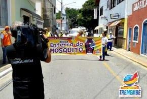 """TV Vanguarda realiza cobertura do ensaio do 1º Bloco """"Enterro do Mosquito"""" em Tremembé"""