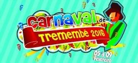 Programação Oficial do Carnaval de Tremembé 2016