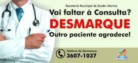 Centro de Saúde de Tremembé registra 782 faltas em consultas médicas no mês de março