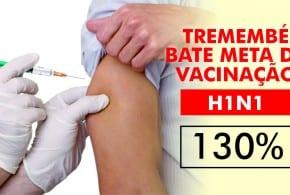 Tremembé atinge meta estabelecida pelo Ministério da Saúde na campanha de vacinação contra H1N1 de 2016