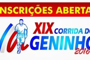 Últimas inscrições: Prova Pedestre do Geninho 2016 em Tremembé. Participe!