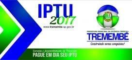 IMPORTANTE: Prorrogado pagamento da Cota Única e/ou 1ª Parcela do IPTU para até o dia 20 de março de 2017