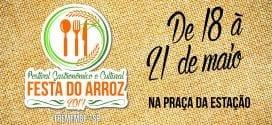 Programação Oficial do Festival Gastronômico e Cultural – Festa do Arroz 2017