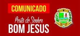 Não haverá Festa Social do Senhor Bom Jesus 2017