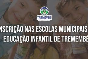 Edital nº 02/2017 de abertura para candidatos à inscrição nas escolas municipais de educação infantil de Tremembé