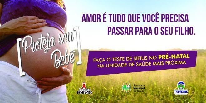 Prefeitura realiza campanha contra sífilis durante o mês de outubro em Tremembé