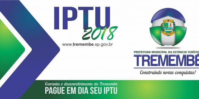 IPTU 2018: Carnês serão entregues a partir do dia 08 de janeiro