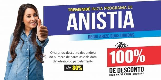 Tremembé inicia Programa de Anistia com até 100% de desconto