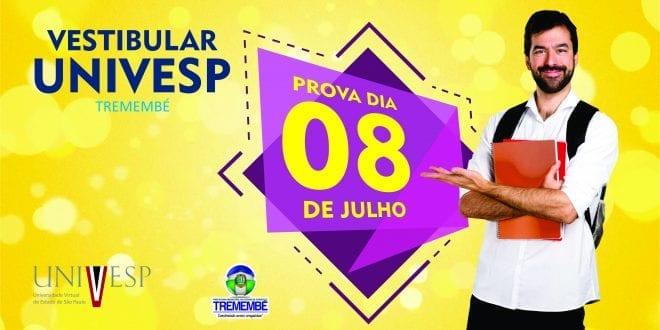 Vestibular Univesp Tremembé acontece no próximo domingo, 08 de julho