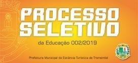 Edital de divulgação dos gabaritos do Processo Seletivo da Educação 002/2019