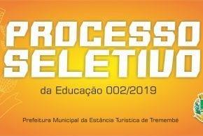 Processo Seletivo  Simplificado Nº 002/2019 – Editais de Convocação